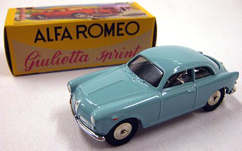 Alfa Romeo Giulietta Sprint 1954 Light Blue 1:43 Model BANG